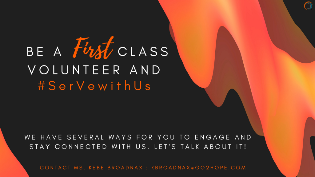 Be A First Class Volunteer and #SerVewithUs (1)