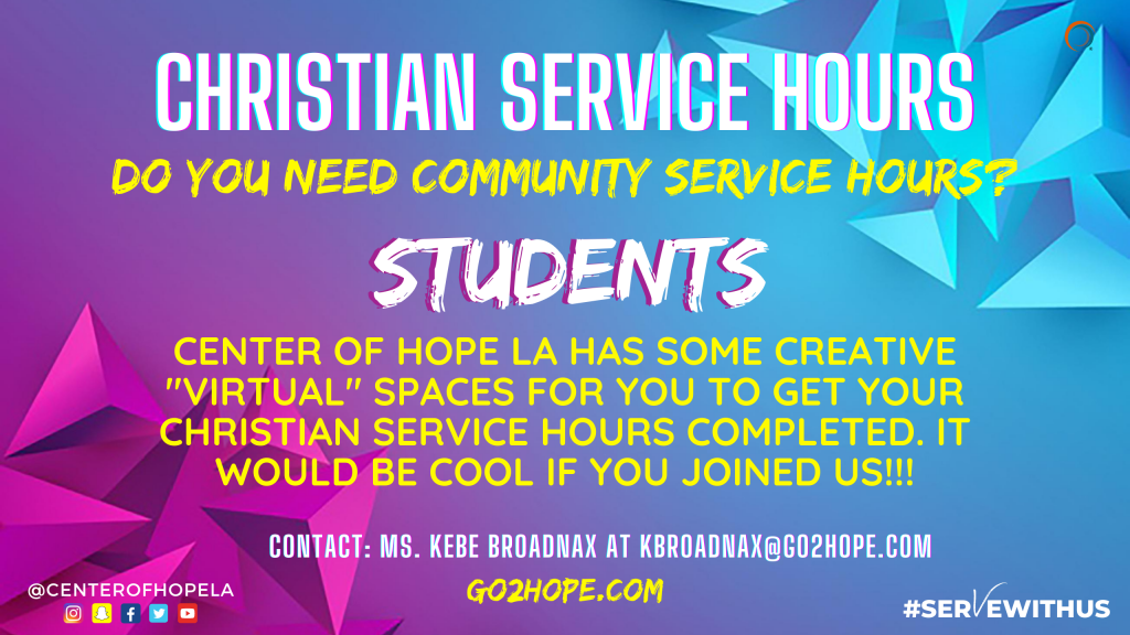 Christian Service Hours (1)