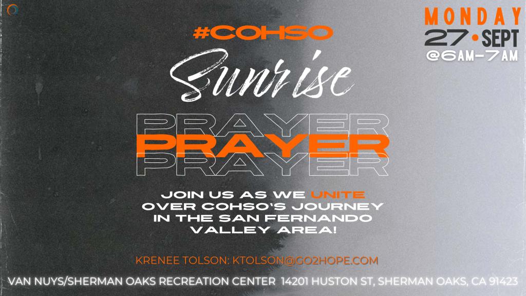 COHSO Sunrise Prayer